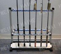 aluminum rod rack - Fishing Fishing Rods aluminium fishing rod display rack rod set natural hair rack mount computer chassis