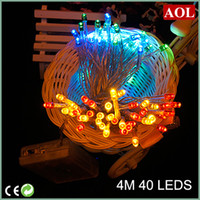 batteries power meters - 4 meters LED String MINI FAIRY LIGHTS XAA Battery Power OPERATED colors choice Christmas Lights Holiday party Decoration