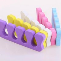 Wholesale 20pcs Soft Sponge Foam Finger Toe Separator Nail Art Salon Pedicure Manicure Nail Tools