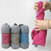 Wholesale Microfiber Travel Towel Swimming Towel Set Super Absorbent and Fast Drying Bath Towel with Hand Towel Storage Bag