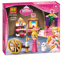 aurora toys - Sleeping Beauty s Royal Bedroom Aurora Princess Series Building Block Minifigure Girls Toy Bela