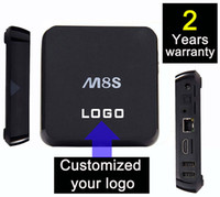 Wholesale 5pcs Customization years warranty smart Android TV boxes S805 gb gb Ares Spinztv Blackbox Apolo Pulse M8 M8S M8S