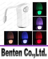 Wholesale Motion Activated Sensor LED Toilet Light Battery Operated Bathroom Night Lamp LLFA