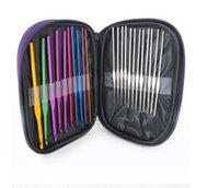 knitting needle - High Quality Set Multi colour Aluminum Crochet Hooks Needles Knit Weave Craft Yarn