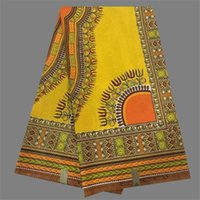 Wholesale Luxury yellow with ankara wax fabric print African wax textile for party dress WF485 yards