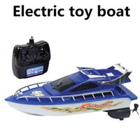 Wholesale Electric toy boats remote control boats channel remote control boat sailing simulation model