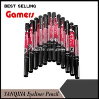 Wholesale 12pcs set YANQINA H Makeup Eyeliner Pencil Waterproof Black Makeup Eyeliner Pen Precision Liquid Eye liner long lasting No Blooming