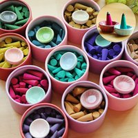 Wholesale about box pagoda incense natural incense sticks Rose Tulip Scent Tower sandalwood Spice tray household Perfume Suits