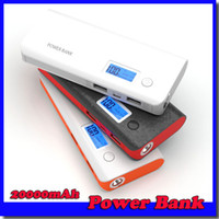 bank displays - High capacity power bank with digital display USB output LED emergency flashlight