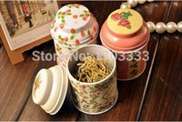 Wholesale Vintage style flower series tea box tin box storage case organizer Iron case storage container