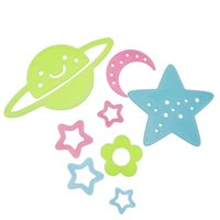 bathroom universe - Wall sticker DIY poster Luminous Stickers Universe wall stickers fluorescent wall stickers for kids rooms home decor LF