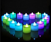 Wholesale Wedding Birthday Party Christmas Decoration Led Flameless Color Changing Tealight Candles Battery LED Candle EWIN24 HOT SALE