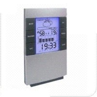 Cheap Free Shipping 1 Piece New Desktop Weather Station With LCD Clock Alarm Forecasts Graph Temperature Humidity Display