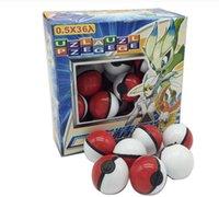 36Pcs de la venta caliente / Lote ABS figuras de acción clásica del anime Poké Balls / Pokeball hada de la bola bolas Super Master Ball Juguetes para niños Regalo libre de la nave
