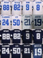 Wholesale NIK Elite Cowboys jerseys cheap rugby football jerseys Dallas ELLIOTT BRYANT WITTEN ROMO AIKMAN CLAIBORNE LEE AUSTIN