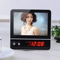 beautiful digital photo frame - Large Beautiful Backlight Oversized LED Digital Photo Picture Frame Wall Clock Modern Design Home Decor LUMINOVA Alarm