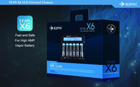 Wholesale EFAN X6 bay LCD smart charger with UK AU US EU plug universal charger Multi functional Battery Charger
