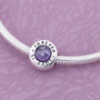 Wholesale New Fit Pandora Bracelets ALE Sterling Silver love is forever charm beads w cz for women DIY jewelry Bracelets Necklaces make