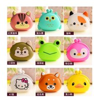 Wholesale Cute Pouch silicone Coin Purse Wallet Bag many animal designs key wallet children Coin bag purse children gift Model No bag06a