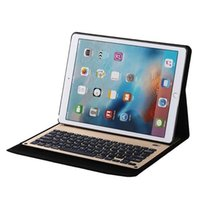 apple ipad khaki - MZ1098 Bluetooth Wireless Aluminum Keyboard With Synthetic Leather Case for Ipad Pro inch Stand Holder Cases Key Board