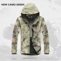 Wholesale Hot Mens Jacket Lurker Shark Skin Shell Outdoor Tactical Camping Hiking Jackets Waterproof Windproof Sports Jackets Fashion Camouflage