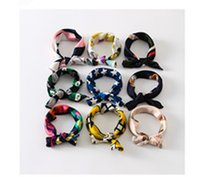 Wholesale 2016 Spring Summer Brand New Fashion Accessories Square Ascot Cravat With Pattern Multicolor Fashion Trend Style Eight Kinds