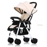 baby seat wheels - New Born Stroller Ultra Light Portable Seating Collapsed Suspension Four Wheel Push Cart BB Baby stroller