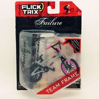 Wholesale Flick Trix Finger bike GRAY PINK Bmx Diecast Nickel Alloy Stents Professional Finger Bicycle Novelty Mini Toys