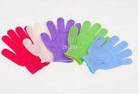 Wholesale 1500PCS HHA698 Factory Price Exfoliating Glove Skin Body Bath Shower Loofah Sponge Mitt Scrub Massage Spa
