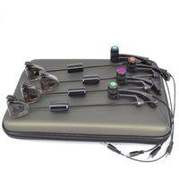Wholesale Carp Fishing Swinger Set Alarm in Case Illuminated Bite Indicator Led colors in Eva fishing case