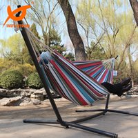 Wholesale SWIFT Outdoor x150 cm New Canvas Fabric Camping Hunting Hammock Hanging Bed Stripe Indoor Outdoors Camping Bed