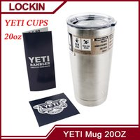 Wholesale 304 Stainless Steel Yeti Cups Cooler YETI Rambler Tumbler Cup Car Vehicle Beer Mugs Double Wall Bilayer Vacuum Insulated oz oz