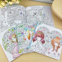 beautiful girl book - 100Pages Beautiful girl Colouring Book Secret Garden Coloring Book For Relieve Stress Kill Time Graffiti Painting Drawing Book