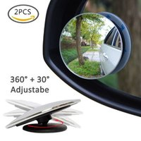 Wholesale Mirror Clear Car Rear View Mirror Rotating Safety Wide Angle Blind Spot Mirror Parking Round Convex monitor car styling