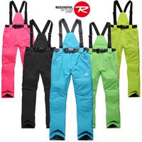 Wholesale hot sales skiing pants female winter outdoor windproof waterproof thermal thickening suspenders trousers