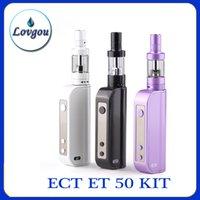 Cheap 100%Original ECT eT50 50W Kit 2.5ml Mini Fog Atomizer 2200mah ET 50 Box Mod electronic cigarettes Vs ET30P Kanger Dripbox 160 ecigarette