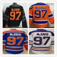 anti c - 2017 Edmonton Oiler Connor McDavid Hockey Jerseys Ice Blue White Orange Black With C Patch Stitched HALL PAAJAR Jersey