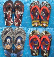 Wholesale Cartoon Kids Slippers The Avengers Slippers Children Summer Beach Slippers Superhero Slippers baby sandals kids shoes boy shoes D584 pairs