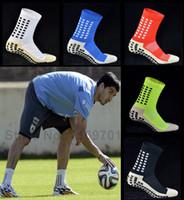 Wholesale New Anti Slip Soccer Socks Cotton Football Socks Men Socks Calcetines The Same Type As The Trusox
