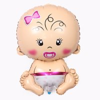 Wholesale Large cm Baby Doll aluminum balloons birthday party supplies Girl