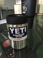 Wholesale 2016 Hot Sale oz Stainless Steel Colster Yeti Coolers Rambler Colster YETI Cups Cars Beer Mug