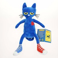 Wholesale 2016 New Fashion Cartoon Pete the Cat Plush Toys Inch minion doll plush Movies TV