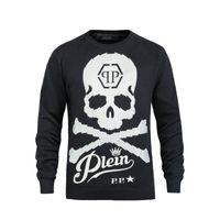 Wholesale 2016 Autumn New Arrived Men s P P Logo Big Skull Printing Fashion Wool Sweaters Coat M XL
