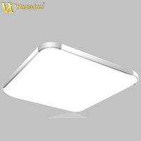 Wholesale 17W Silver Gold frame super thin Acrylic Modern led ceiling light indoor lighting lamps Factory ceiling lamp