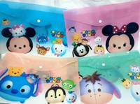Wholesale Hot Sale Fashion Tsum Cartoon A4 Plastic Translucent Learning Paper Bags Study stationery Cartoon Toy Gifts Favors