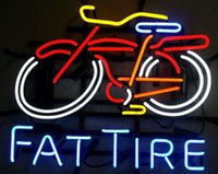 Wholesale Fat Tire Bike Real Glass Neon Light Sign Bar Pub