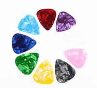 Wholesale 0 mm Stylish Colorful Celluloid Guitar Picks Plectrums for Guitar Bass Set Of