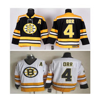 Wholesale MEN NWT CCM BOBBY ORR BOSTON BRUINS HOCKEY JERSEY Bruins Jersey Black White Stitched