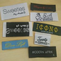 Wholesale garment accessories damask labels for clothing woven label top grade custom clothing labels soft silk labels