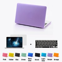 Wholesale 3 in Laptop Matte case shell keyboard cover LCD For Macbook air Pro Retina11 notebook without logo